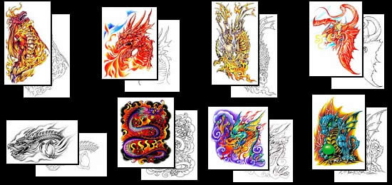 Get lots of great Fire Dragon tattoo design ideas here!