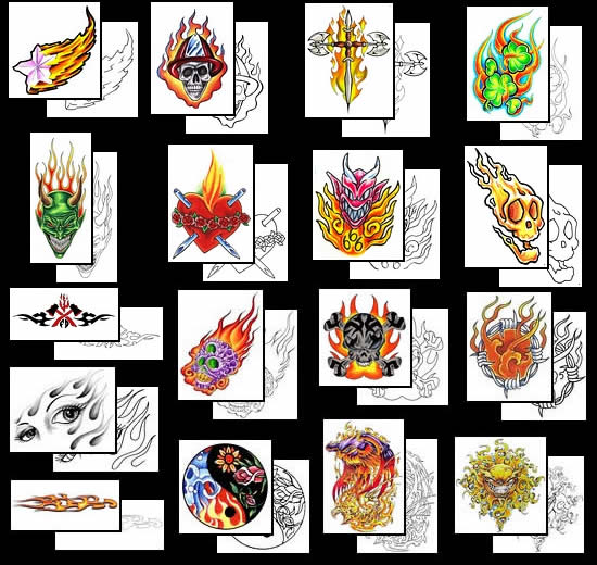 Get your Flame tattoo design ideas here!