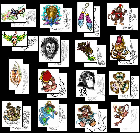 Get your Monkey tattoo design ideas here!