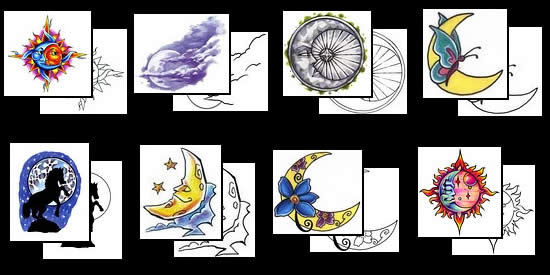 Get your Moon tattoo design ideas here!