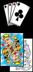 Check out these great playing card tattoo design ideas