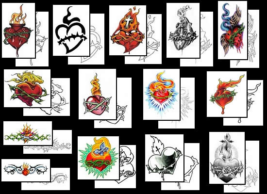 Get a great sacred heart tattoo design ideas here!