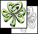 Shamrock tattoo designs and symbols
