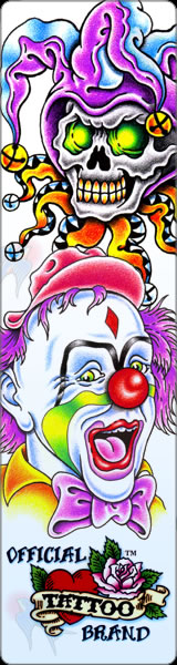Get Official Tattoo Brand Clown tattoo designs from Tattoo-Art.com