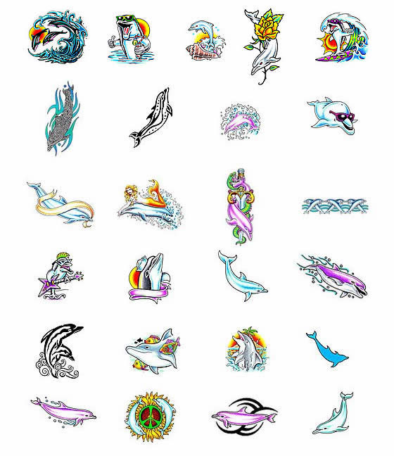 Butterfly tattoos and dolphin tattoo