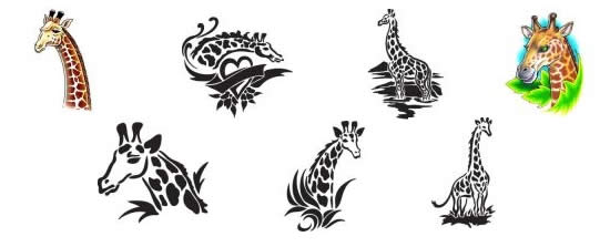 Giraffe tattoo design ideas from Tattoo-Art.com
