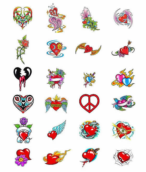 LOVE HEARTS TATTOOS Heart Tattoo Designs & Symbols Size:560x660