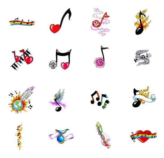 musical note tattoos