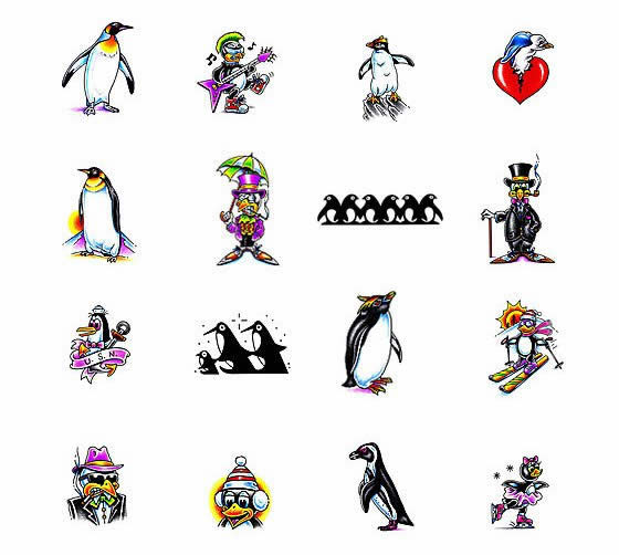 (Choose your own penguin tattoo design at Tattoo Johnny)