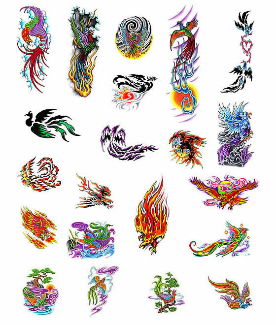 Phoenix Bird Tattoo Flash · Click Here to Read More