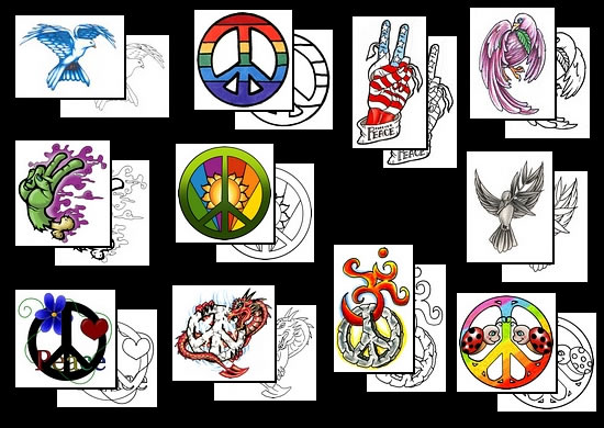 Peace Symbol Tattoos What Do They Mean Peace Sign Tattoo Designs
