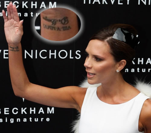 Victoria Beckham commemorated a decade of being happily married to David by
