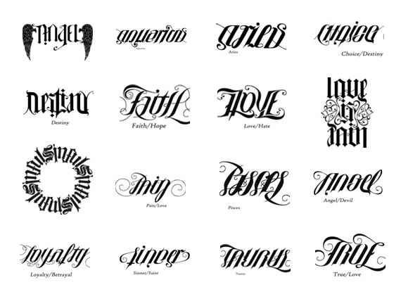 Ambigram tattoo designs from 570 x 425 ·