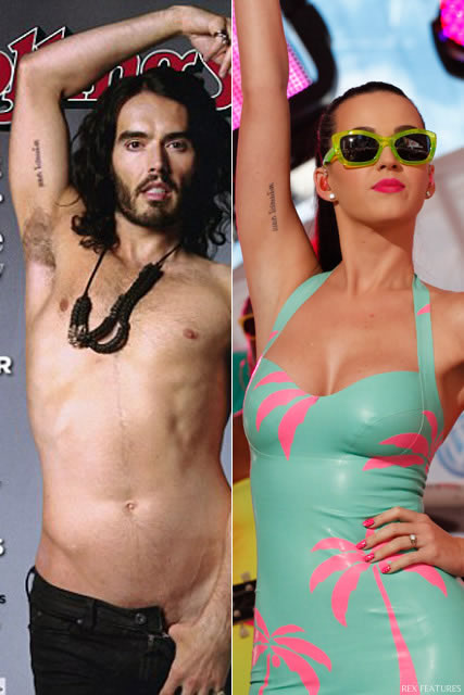 Russell Brand Katy Perry tattoos