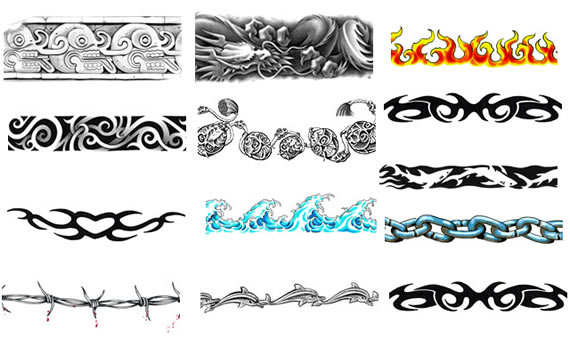 Tribal Armband Tattoos tribal arm sleeve tattoos letter k tattoo lebron
