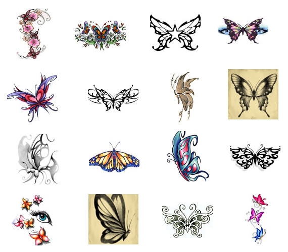 Tattoos Designs Symbols Butterfly and Meaning
