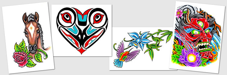 Tattoo Designs Symbols Heart Hearts Hummingbirds Haida