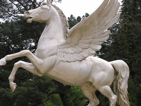 Pegasus statue at Powerscourt - County Wicklow - Ireland