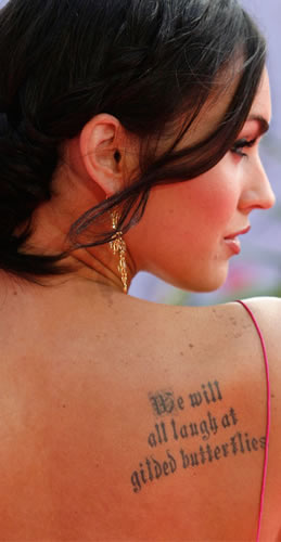 Celebrity tattoos Interesting