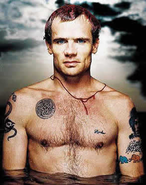 flea of red hot chili peppers tattoo pics photos pictures