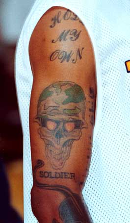 saint tattoo knoxville: allen iverson tattoos meaning