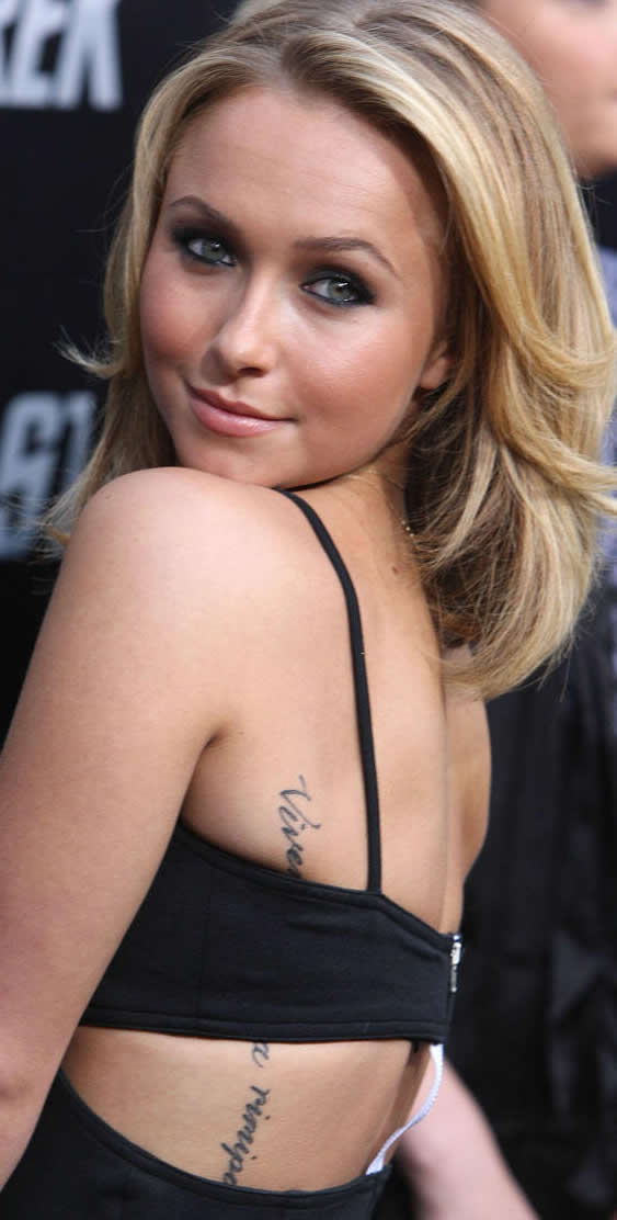 hayden panettiere tattoos pictures images pics photos of