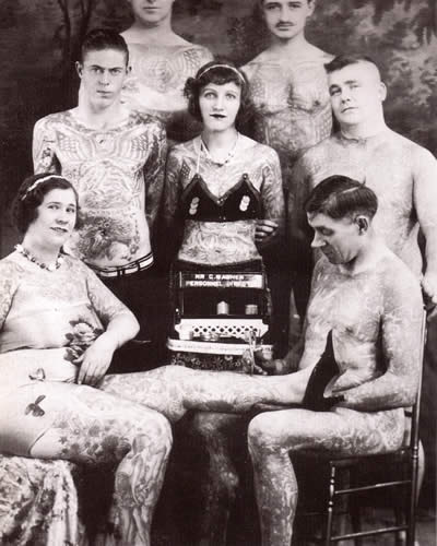 Tattoo history circus tattoo images history of tattoos and