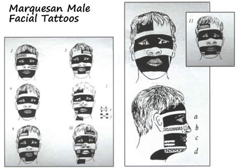 "I hear ""Marquesan Tattoos"" I think of something along the lines of THIS:"