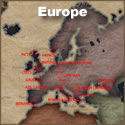 Europe Tattoo Map