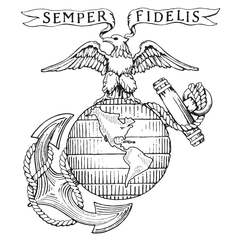 Us marine pictures pics images and photos for inspiration for Usmc coloring pages